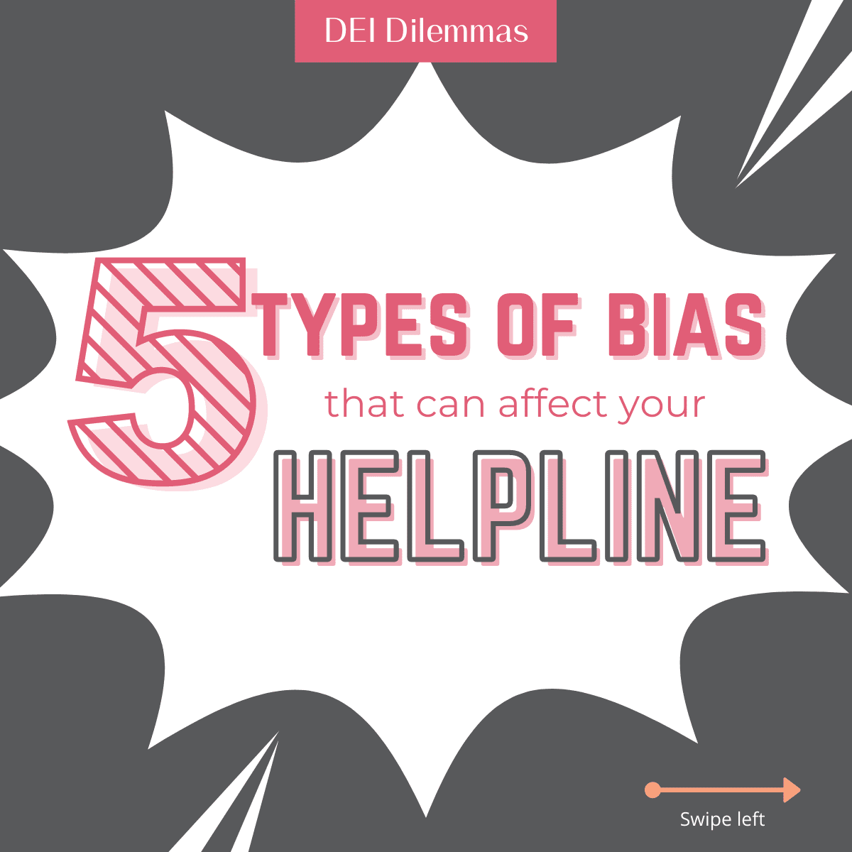 Did you know that there are 5 types of unconscious bias that can affect your hotline?